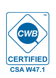 Iron Age Manufacturing is proudly certified through the Canadian Welding Bureau - CWB certification enables us to remain on top of industry standards