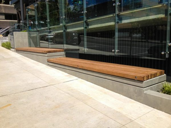 Wooden Exterior Bench in Vancouver